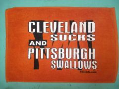Cleveland Sucks and Pittsburgh Swallows Towel