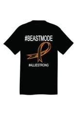 Beastmode Tee Shirt with #32STRONG4ALLIE on back