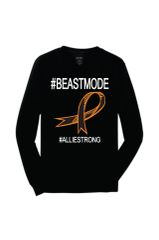 Beastmode Long Sleeve Tee with #32STRONG4ALLIE on back