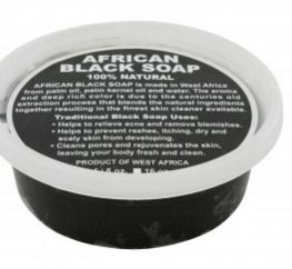 8oz JAR: PURE RAW AFRICAN BLACK SOAP