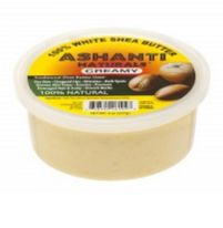 ASHANTI - 100% CREAMY WHITE AFRICAN SHEA BUTTER 8 oz