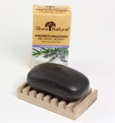 Moisturizing Lavender Black Soap with Shea Butter