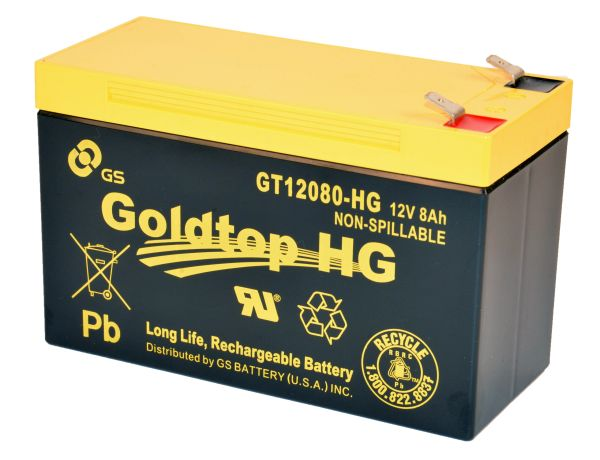 GT12080-HG with HT Element X Alloy - Premium Replacement Battery (3 Year Warranty) for PX12072 for AT&T Fiber, Centurylink and other FTTH systems