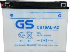CB16ALA2 12V 16Ah with Acid Pack for Ducati/Yamaha Motorcycle/Snowmobile by GS Yuasa Energy Solutions Inc. a subsidiary of GS YUASA