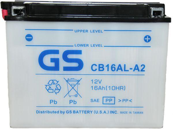 CB16ALA2 12V 16Ah with Acid Pack for Ducati/Yamaha Motorcycle/Snowmobile by  GS Yuasa Energy Solutions Inc  a subsidiary of GS YUASA