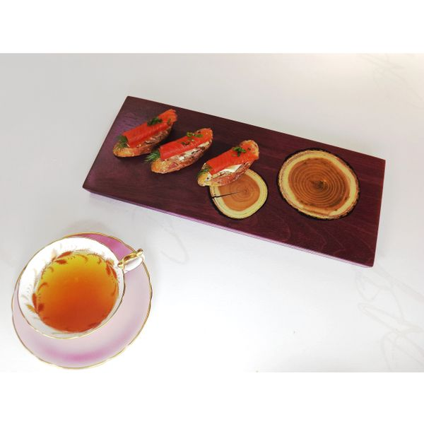 MEDIUM charcuterie board with inlaid growth rings