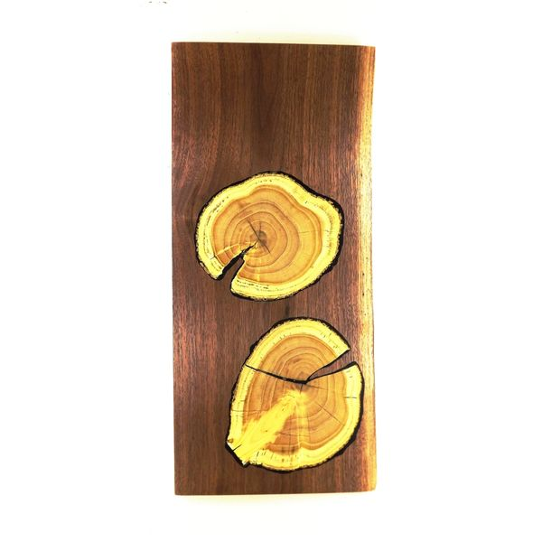 "18"" Charcuterie Board in Walnut with Mulberry Growth Rings"