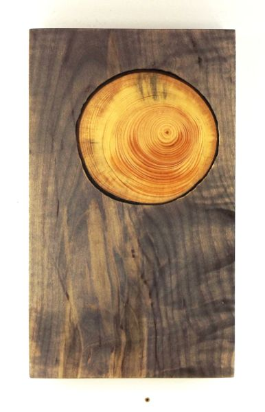 Mini charcuterie board with inlaid growth rings