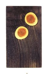 Mini charcuterie board with inlaid DORIAN growth rings