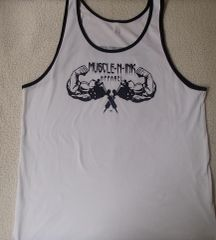 Mens White Tank with Black Trim (front & back)