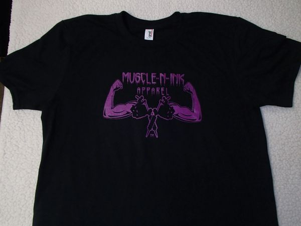 Womens Black T-shirt (front & back)
