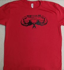 Mens Red T-shirt (front & back)