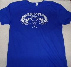 Mens Royal T-Shirt (front & back)