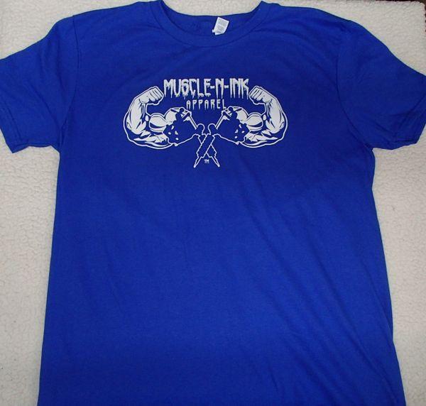 Mens Royal T-Shirt (front & back)