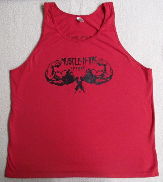 Mens Red Tank (front only)