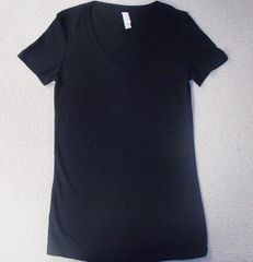 Womens Black V-Neck (front only)