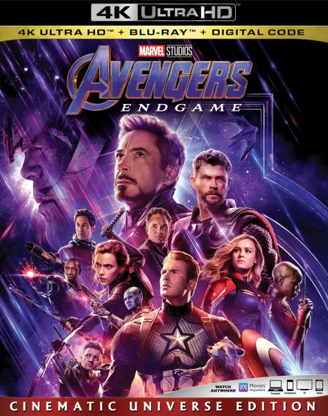 Avengers: Endgame 4K UHD Code (Movies Anywhere)