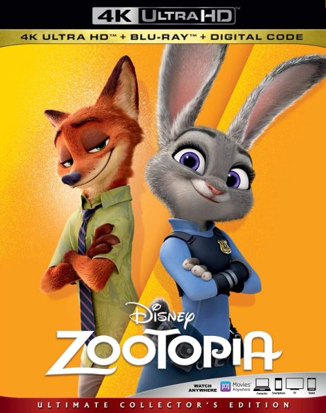 Zootopia 4K UHD Code (Movies Anywhere)