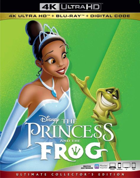 The PRINCESS AND THE FROG 4K UHD Code (Movies Anywhere)