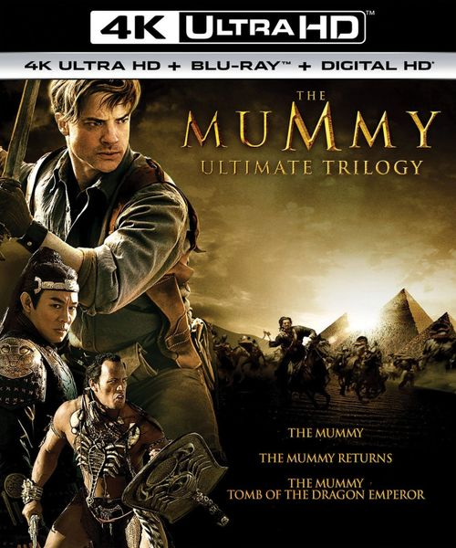 The Mummy Ultimate Trilogy 4K UHD Code (Movies Anywhere), one code for three movies