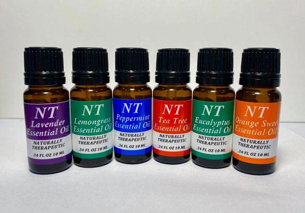 Top 6 - 10ml Essential Oil Aromatherapy Starter Kit