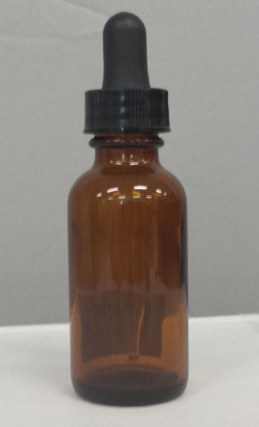 PK Amber 1oz Glass Dropper