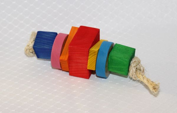 #47 Wood Shapes with Bangles Foot Toy