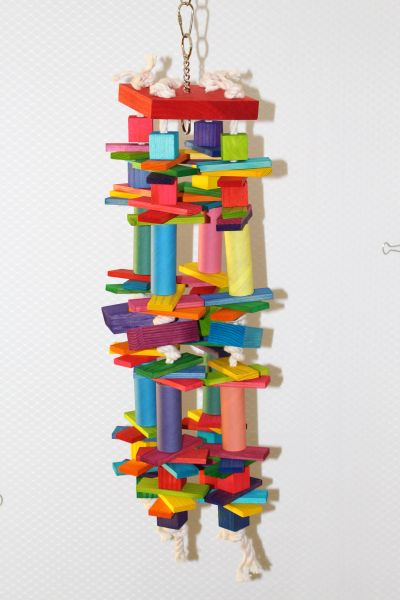 #111 Large Toy with Rectangles and Bangle Tubes