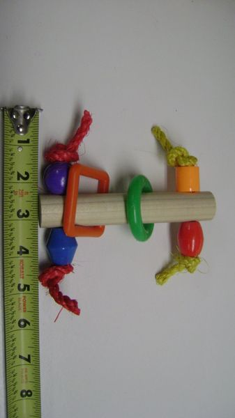 #35 Wooden Rod with Shapes Foot Toy
