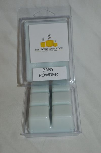 Baby Powder Triple Scented Wax Melts (6 Cubes Per Shell)