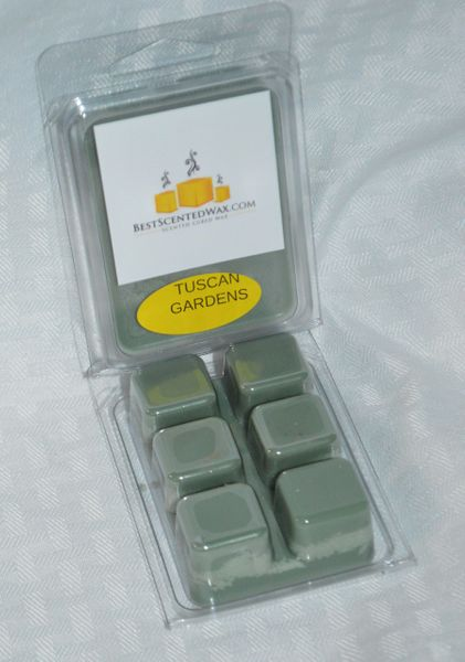 Tuscan Gardens Triple Scented Wax Melt (One Shell Holds 6 Cube Melts)