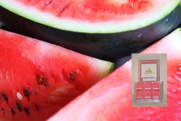 Watermelon Triple Scented Wax Melts (One Shell Holds 6 Cubed Melts)
