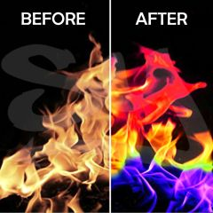 Big Fire Color Changing Rainbow Effect for Indoor & Outdoor Wood Burning Fires