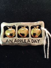 TC Signature An Apple a Day Brooch