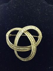 Sterling Germany Goldwash Brooch
