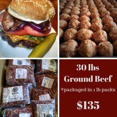 30 lbs Ground Beef