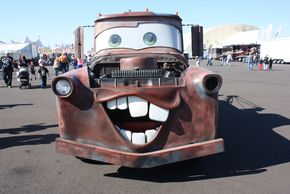 "A version of Tow Mater - Movie,Cars. Route 66 Baxter Springs. Kansas has ""Tow Tater on display"