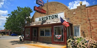 The Ariston Cafe is a popular local Route 66 diner and favorite tourist stop.