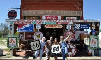 A familiar Route 66 tourist stop in Eric, Oklahoma. Host to many  international Route 66 travelers.