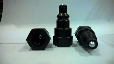 TNT 551003 Male Bleeder Coupler Black
