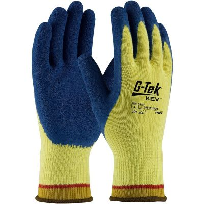 G-Tek Cut Resistant Kevlar Work Gloves with Latex Coated Palm