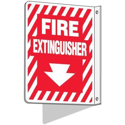 "LUMINOUS FIRE EXTINGUISHER SIGNAGE STICKER TYPE 10"" X 7"""