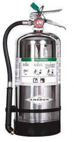 """Amerex B260, 6 Liter Wet Chemical Class A K Fire Extinguisher, Ideal For """"KITCHEN USE"""""""