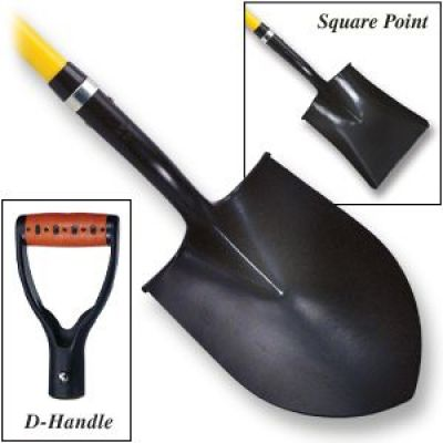 "Firefighting Shovels Round Point 48""Handle"
