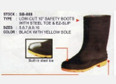 SUPERTUFF STEEL TOE SAFETY BOOTS (Size 8)