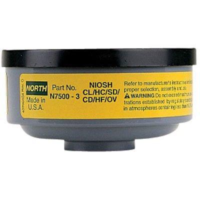 Honeywell / North Safety N75003L | Organic Vapor / Acid Gas Respirator Low Profile Cartridge
