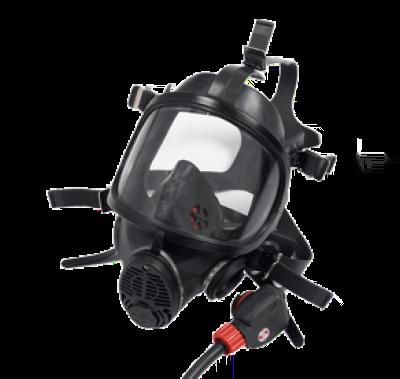 SCOTT 1033257 071.780.00 PanaVisor positive pressure facemask in black Neoprene with standard rubber head harness.