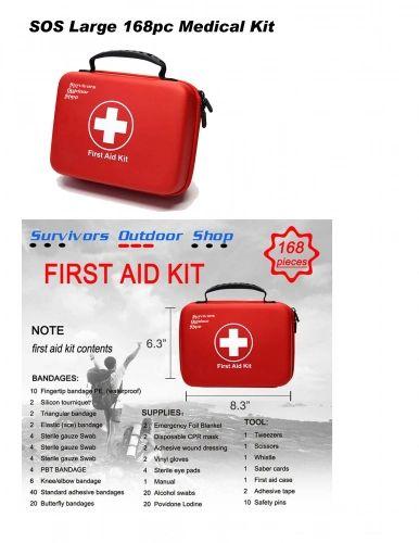 SOS LARGE 168 PCS. MEDICAL KIT FIRST AID KIT