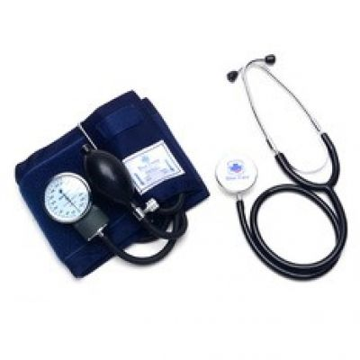 BP Set with Stethoscope Blue Cross