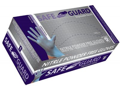 SURE GUARD NITRILE GLOVES BLUE